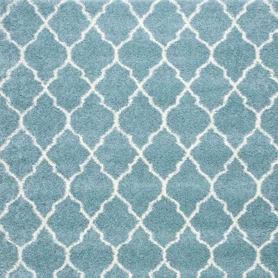 Casanova - Color Aqua Twist 13 ft. Blue Carpet