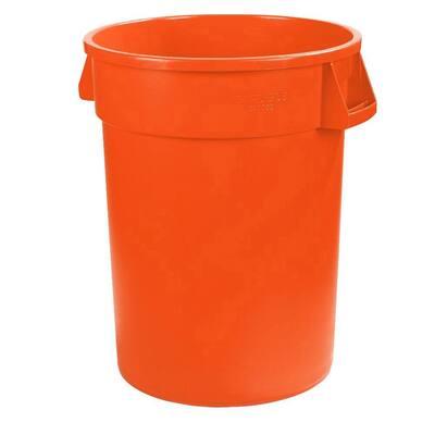 Bronco 44 Gal. Orange Round Trash Can (3-Pack)