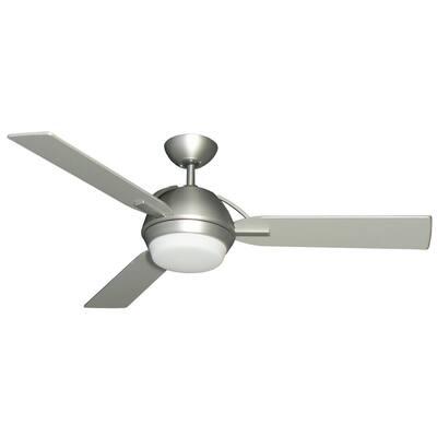 Enterprise III 52 in. Satin Steel Ceiling Fan with Light