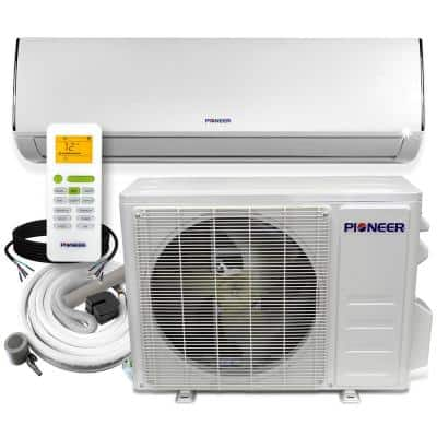 Low-Ambient 9,000 BTU 0.75 Ton 20 SEER Ductless Mini Split Wall Mounted Inverter Air Conditioner with Heat Pump 110/120V