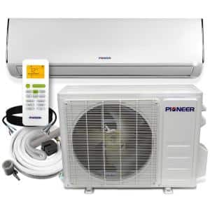 Low-Ambient12,000 BTU 1 Ton 19 SEER Ductless Mini Split Wall Mounted Inverter Air Conditioner with Heat Pump 208/230V