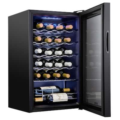 16.9 in. 24 Bottle Compressor Freestanding Wine and Beverage Cooler