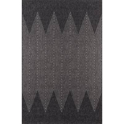 Como Charcoal 9 ft. 10 in. X 13 ft. 2 in. Indoor/Outdoor Area Rug