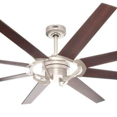 Damen 68 in. Nickel Luster DC Motor Ceiling Fan with Remote Control