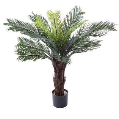 36 in. Potted Artificial Cycas Palm Tree