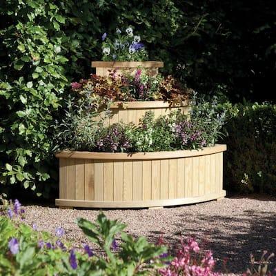 English Garden Corner Cascade Wood Planter