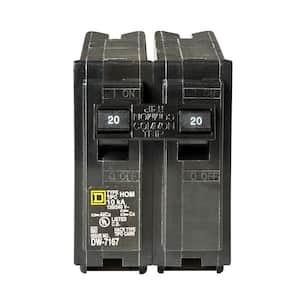 Homeline 20 Amp 2-Pole Circuit Breaker