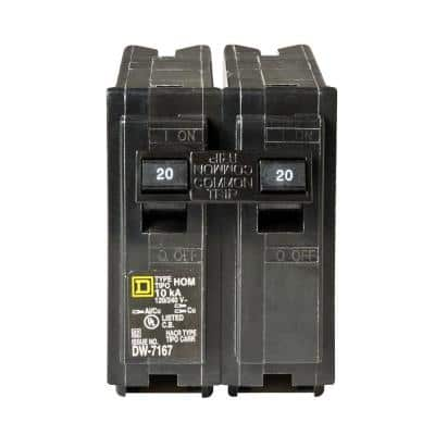 Homeline 20 Amp 2-Pole Circuit Breaker