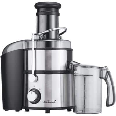 800 W 34 oz. Silver 2-Speed Electric Juice Extractor