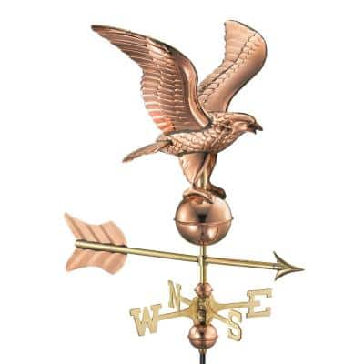 Eagle Cottage Weathervane - Pure Copper with Roof Mount