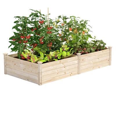 4 ft. x 8 ft. x 17.5 in. Original Pine Raised Garden Bed