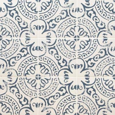 Indigo 8 in. x 8 in. Glazed Porcelain Floor and Wall Tile (5.16 sq. ft./Case)
