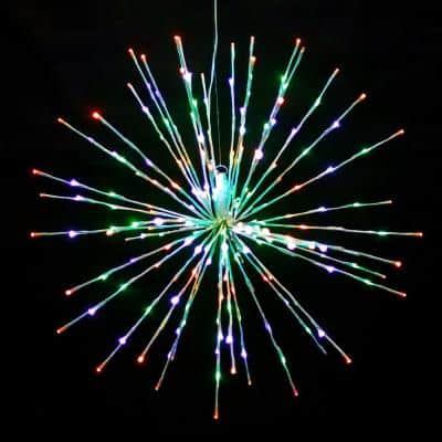 32 in. Multi LED Christmas Spritzer