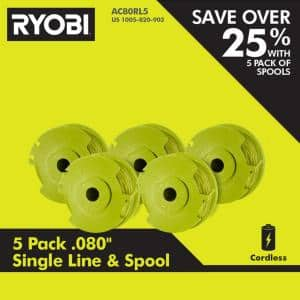 0.080 in. Replacement Auto-Feed Line Spools (5-Pack)