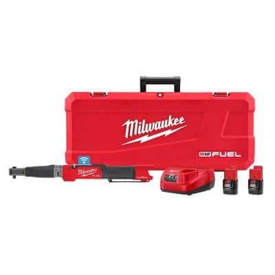 M12 FUEL ONE-KEY 12-Volt Lithium-Ion Brushless Cordless 3/8 in. Digital Torque Wrench Kit with Two 2.0 Ah Batteries