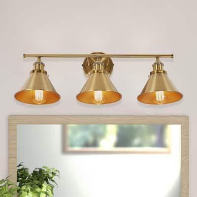 Oakdale 3-Light Golden Sconce Wall Light