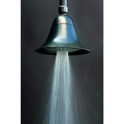 2-Spray 6 in. Single Wall Mount Fixed Shower Head in Oil Rubbed Bronze