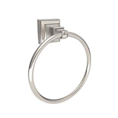Markham 6-7/8 in. (175 mm) Length Towel Ring in Polished Chrome