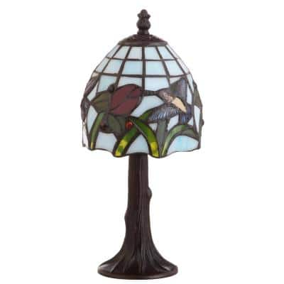Hummingbird Tiffany-Style 12 in. Bronze Table Lamp