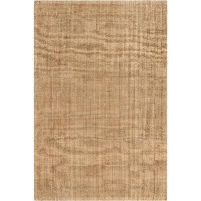 Lani Boucle Natural 5 ft. x 7 ft. 6 in. Hand-Woven Jute Farmhouse Solid Pattern Area Rug