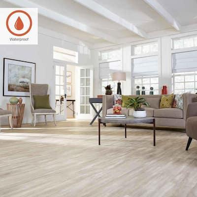 Outlast+ 7.48 in. W Soft Oak Glazed Waterproof Laminate Wood Flooring (549.64 sq. ft./pallet)