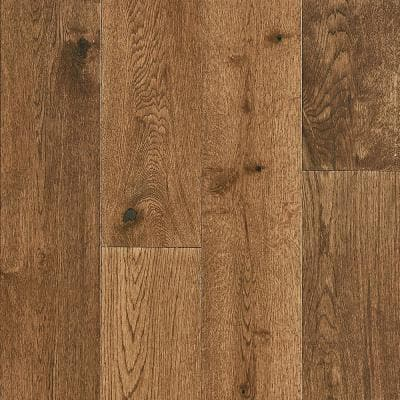 Time Honored Oak Tan 3/8 in. T x 5 in. W x Vary Length Engineered Click Hardwood Flooring (28.1 sq. ft./case)