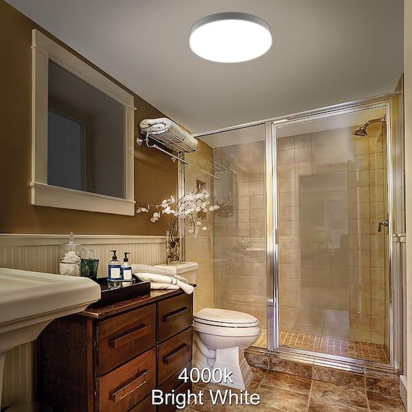 Commercial Electric 16 In Color, Bathroom Flush Mount Light