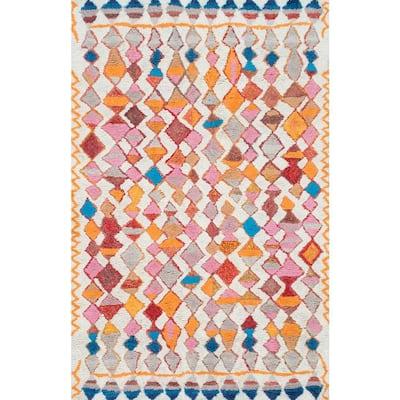 Helaine Moroccan Boho Shag Multi 5 ft. x 8 ft.  Area Rug