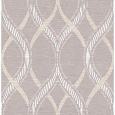 Frequency Lavender Ogee Paper Strippable Roll Wallpaper (Covers 56.4 sq. ft.)