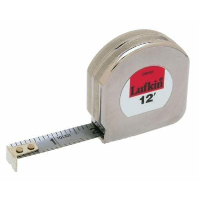 1/2 in. x 12 ft. Chrome Clad Tape Measure