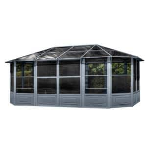 Florence Solarium 12 ft. x 18 ft. in Slate