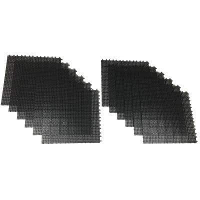 Black Regenerated 22 in. x 22 in. Polypropylene Interlocking Floor Mat System (Set of 12 Tiles)