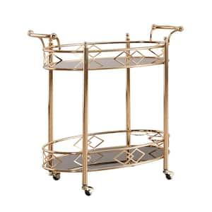 Ariella Rose Gold Bar Cart