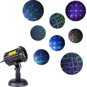3-Light LEDMALL Multi-Color Outdoor Garden Laser Christmas Lights with RF Remote Control