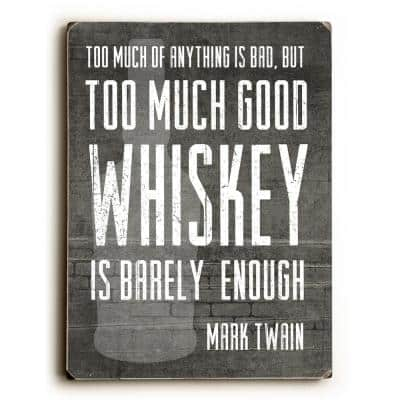 """9 in. x 12 in. """"Good Whiskey"""" by Cheryl Overton Solid Wood Wall Art"""