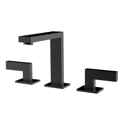 8 in. Widespread 2-Handle Bathroom Faucet in Gun Black
