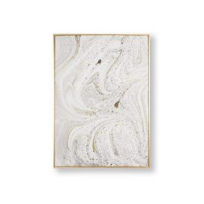 Marble Luxe Framed Canvas Wall Art