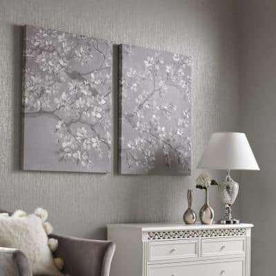 "31 in. x 24 in. ""Tranquil Orchid"" Printed Canvas Wall Art"