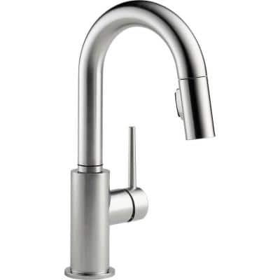 Trinsic Single-Handle Pull-Down Sprayer Bar Faucet with MagnaTite Docking in Arctic Stainless