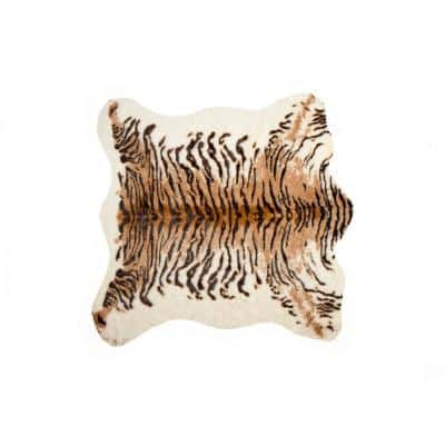 Faux Tiger 4. 25 ft. x 5 ft. Cowhide Rug