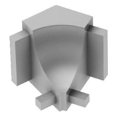Dilex-AHK Satin Anodized Aluminum 1/2 in. x 1 in. Metal 135 Degree Inside Corner