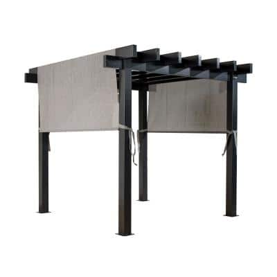 Yamba 10 ft. W x 10 ft. D Gray Aluminum Pergola with Adjustable and Removable Gray Mesh Canopy