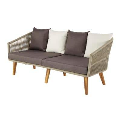 Grey Wood Modern Outdoor Sofa
