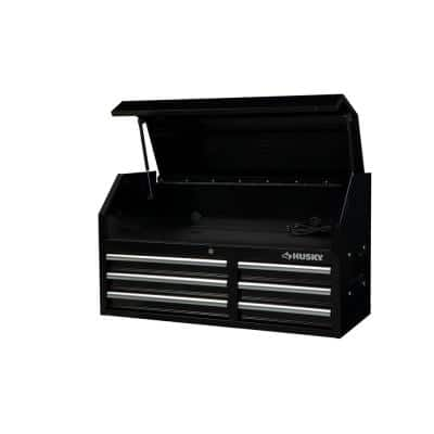 41 in. 6-Drawers Top Chest in Black