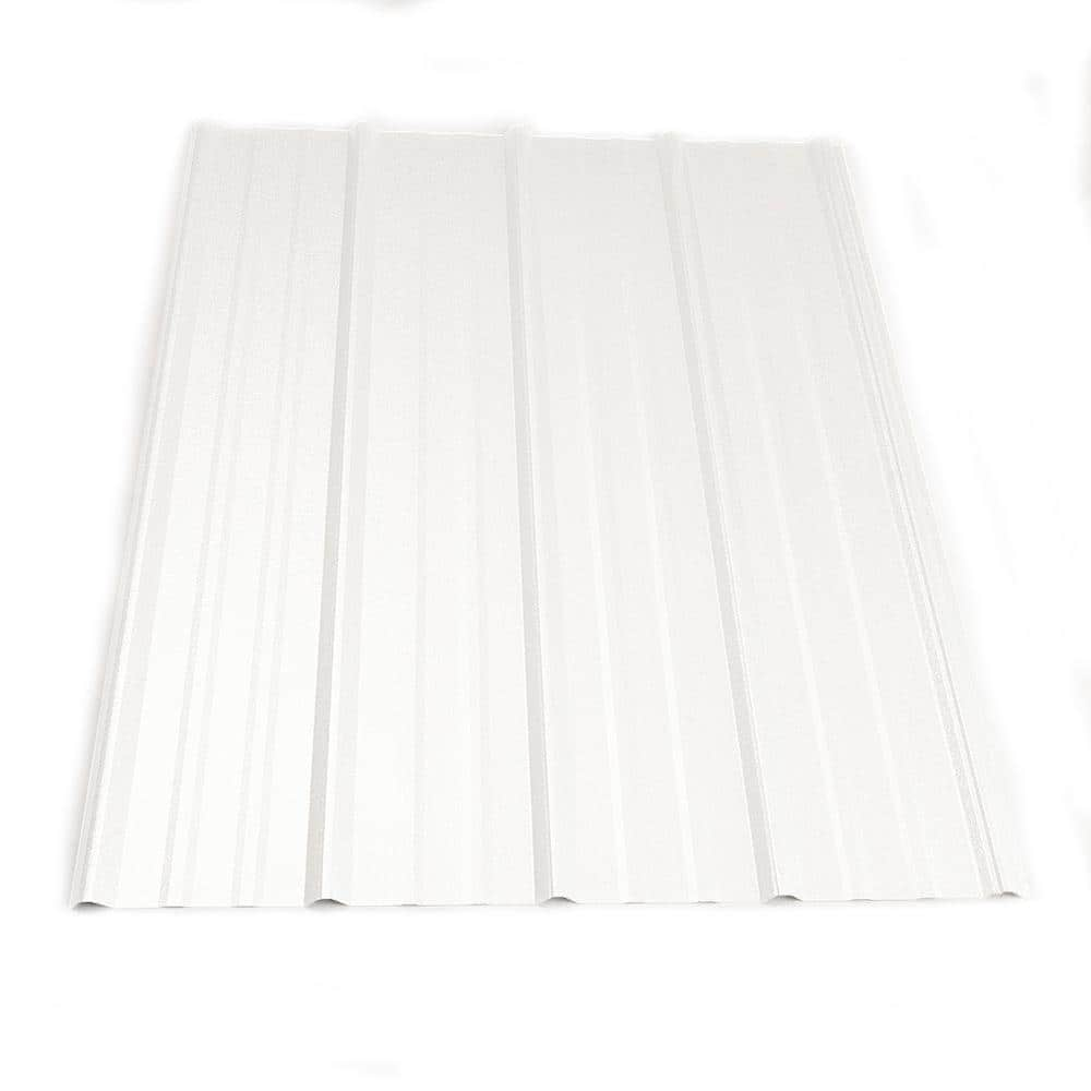 Metal Sales 8 Ft Classic Rib Steel Roof Panel In Bright White Hd2312039 The Home Depot