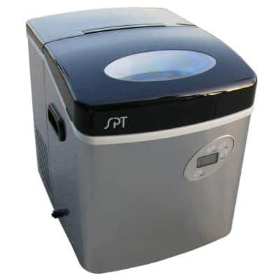35 lb. Portable Ice Maker in Stainless Steel