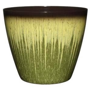 Vogue 8 in. Willow Green Resin Planter