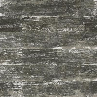 Vintage Silver 8 in. x 36 in. Matte Porcelain Floor and Wall Tile (14 sq. ft./Case)