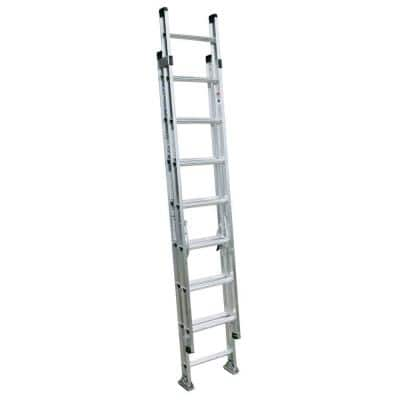 16 ft. Aluminum D-Rung Extension Ladder with 300 lbs. Load Capacity Type IA Duty Rating