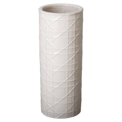 Cane, White Ceramic Umbrella Stand